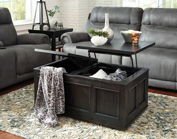 Gavelston - Black - Lift Top Cocktail Table