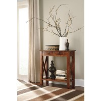 Abbonto - Warm Brown - Console Sofa Table