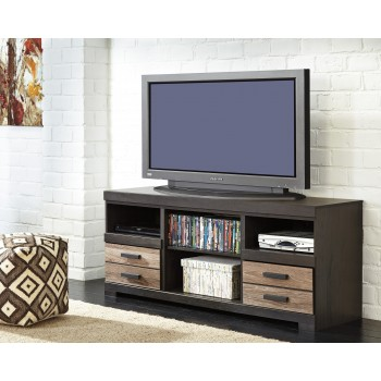 Harlinton - Two-tone - LG TV Stand w/Fireplace Option