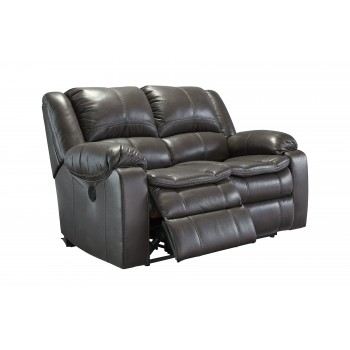 Long Knight - Gray - Reclining Power Loveseat