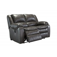 Long Knight - Gray - Reclining Loveseat