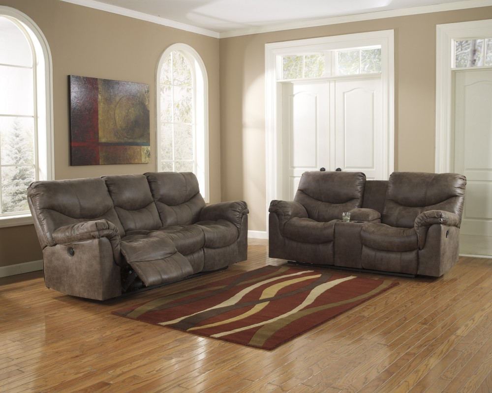 Alzena - Gunsmoke - Reclining Sofa & Loveseat