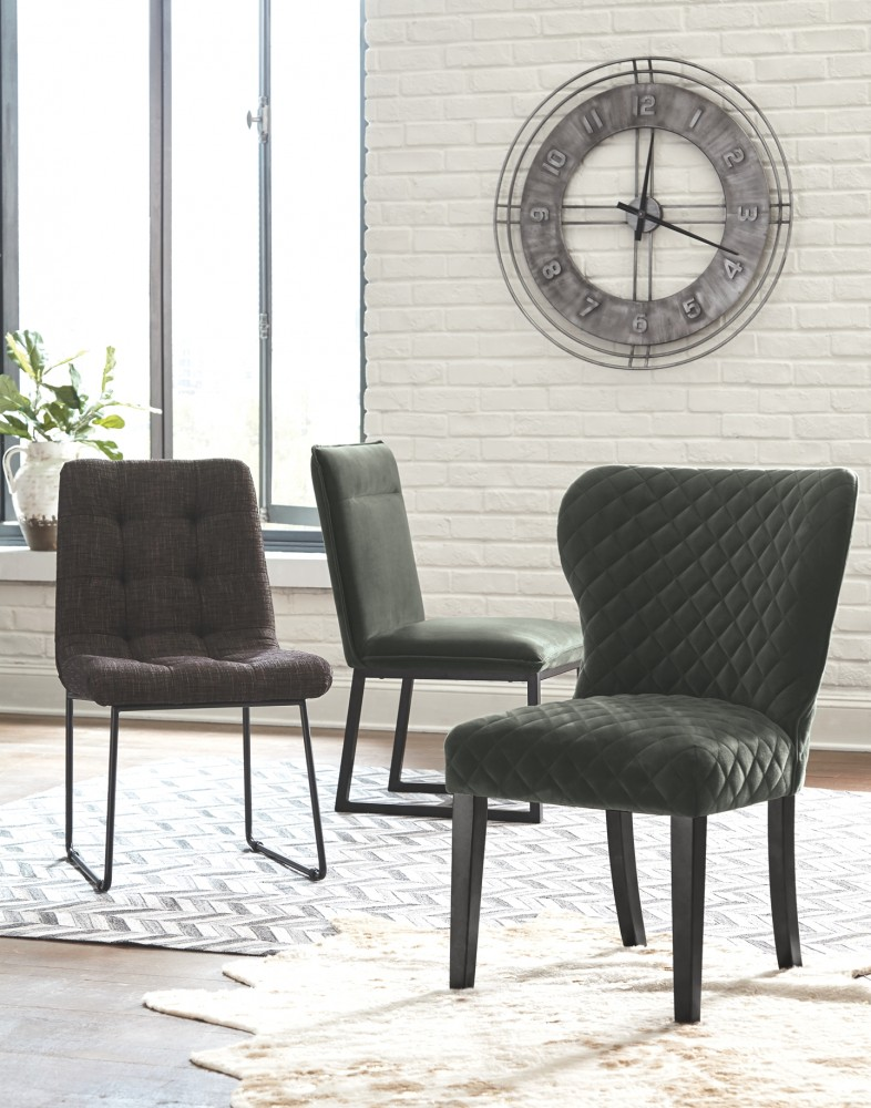 Dining Room Chairs Cheap Prices: Rozzelli - Multi - Dining UPH Side Chair (2/CN)