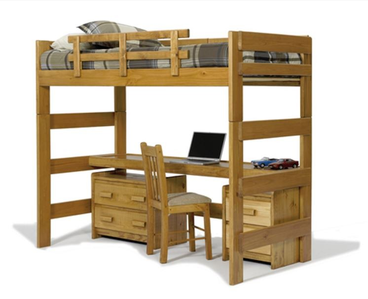 Loft Bed With Desk And Bunkie Board Loft Seat N Sleep
