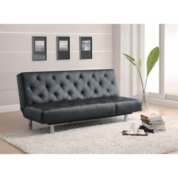 Remarkable Black Vinyl Sofa Bed 300304 Dailytribune Chair Design For Home Dailytribuneorg