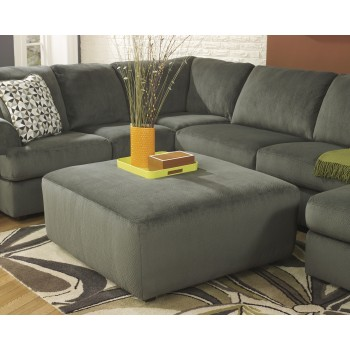Jessa Place - Pewter - Oversized Accent Ottoman