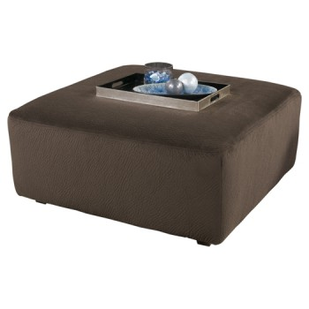 Jessa Place - Chocolate - Oversized Accent Ottoman