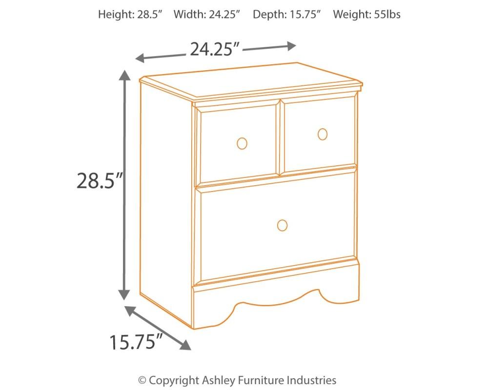 Weeki - Two Drawer Night Stand