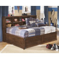 Delburne Twin/Full Storage Headboard/Footboard Frame