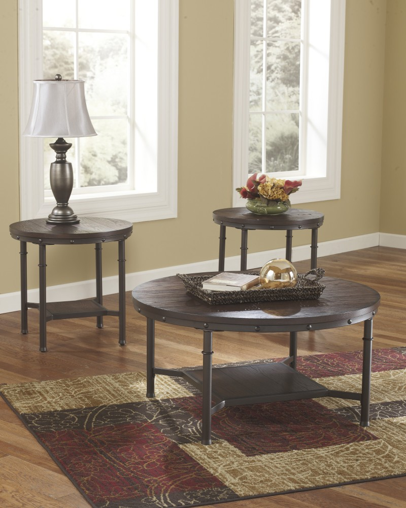 Sandling - Occasional Table Set (Set of 3) & Sandling - Occasional Table Set (Set of 3) | T277-13 | Three Pack ...