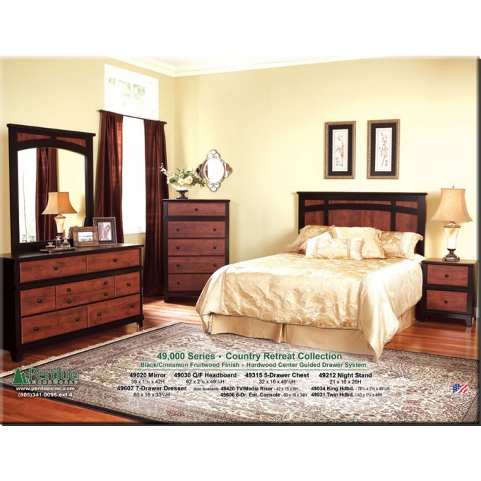 Black and Cinnamon Bedroom Group