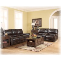 Dexpen - Saddle - Leather Reclining Living Room Group