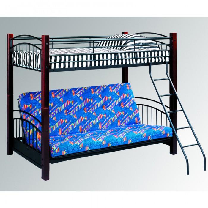 Black / Oak Frame Twin/ Futon Bed