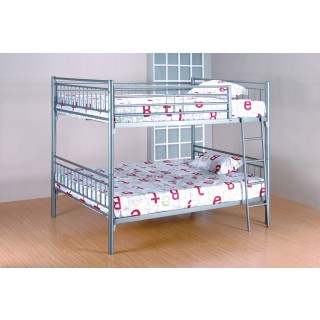 Silver Gray Metal Frame F/ F Bunk Bed