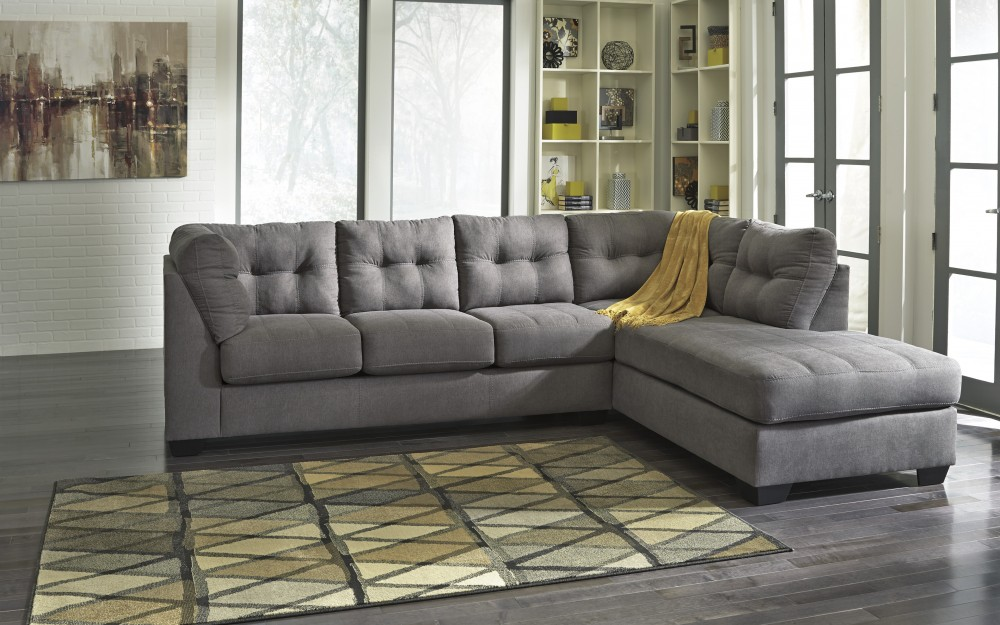 Maier Charcoal 2 Pc Raf Corner Chaise Sectional 45200 66 17