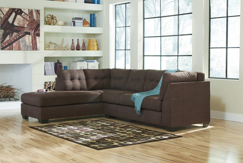 Maier - Walnut - 2 Pc LAF Corner Chaise Sectional | 45201/16/67 ...