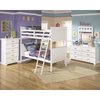 Lulu Bunk Bed (twin/twin), Dresser & Mirror