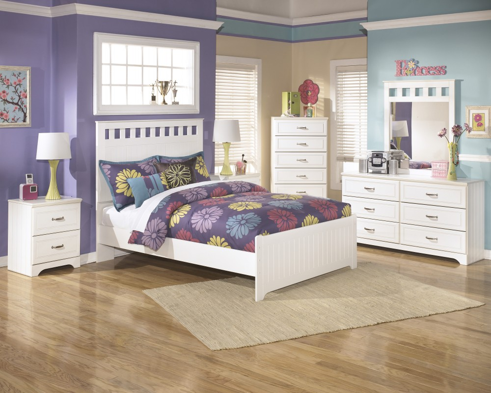 Lulu Full Bed, Dresser & Mirror