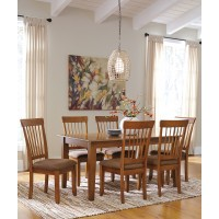 Berringer Rectangular Dining Room Table U0026 6 Side UPH Chairs