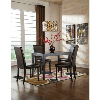 Kimonte Rectangular Table & 4 UPH Side Chairs