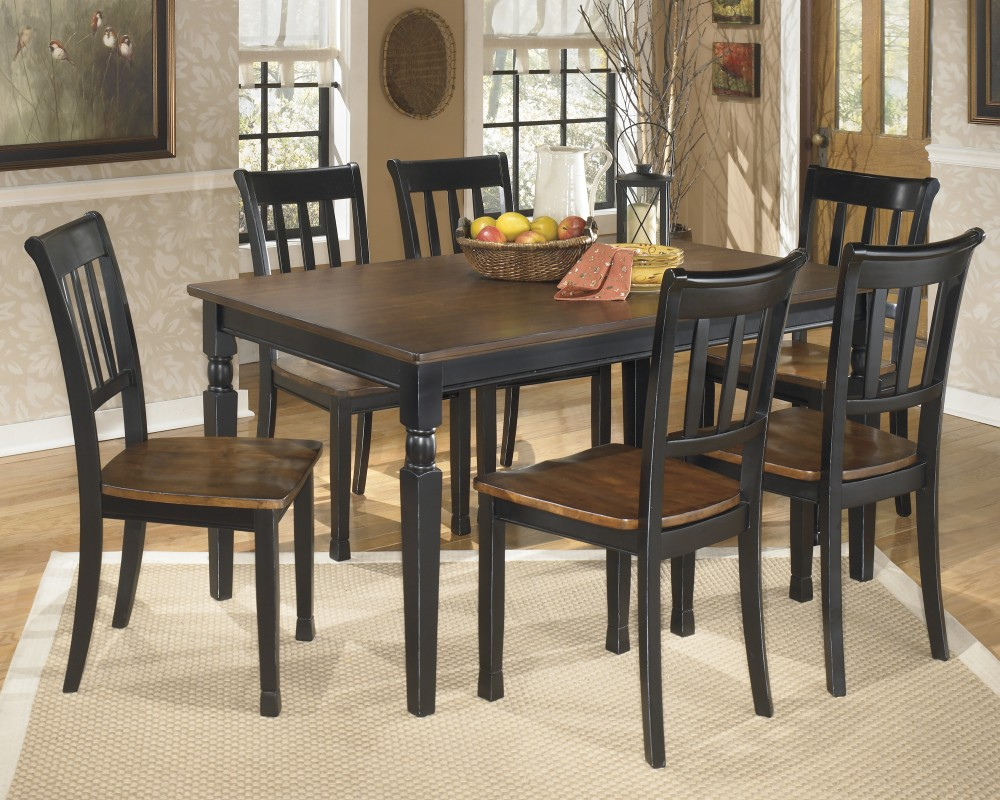 Owingsville rectangular dining room table 6 side chairs