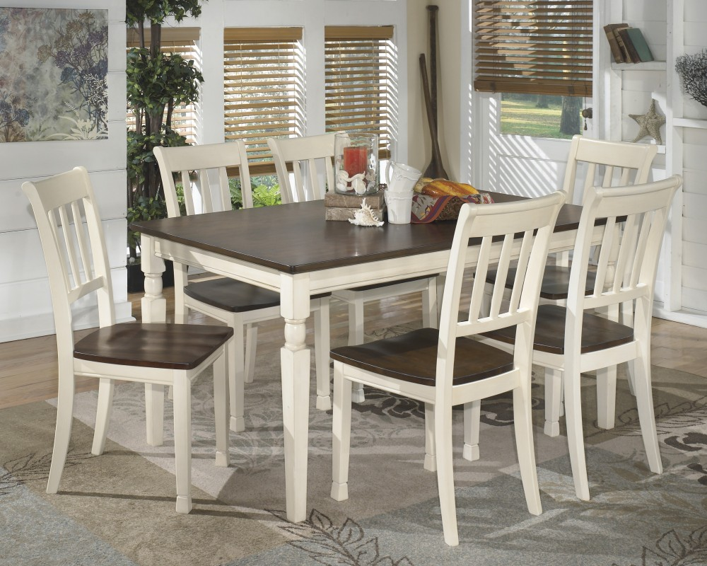 Whitesburg Rectangular Dining Room Table U0026 6 Side Chairs