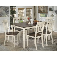Whitesburg Rectangular Dining Room Table & 6 Side Chairs