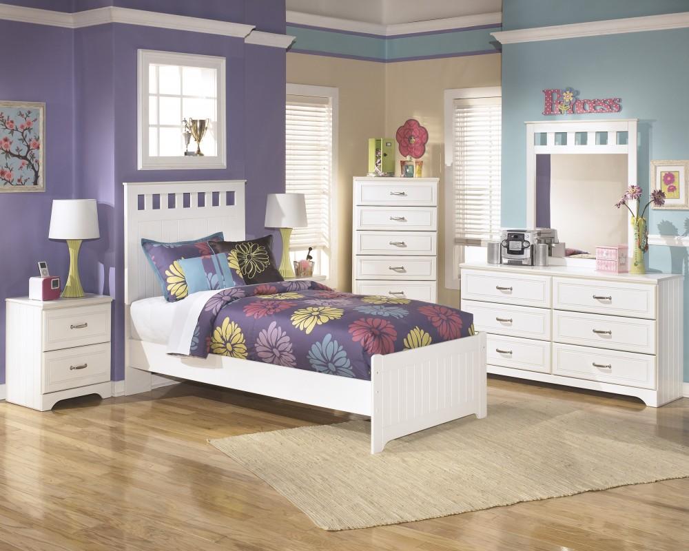 Lulu Twin Bed, Dresser & Mirror