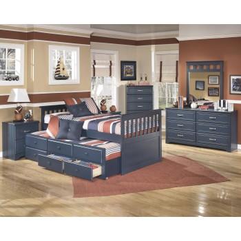 Leo Twin Bed w/Trundle, Dresser & Mirror