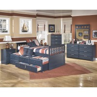 Leo Twin Bed w/Trundle, Dresser & Mirror
