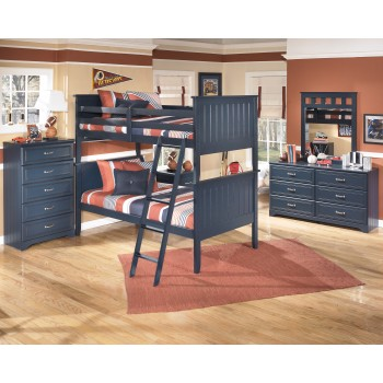 Leo Bunk Bed (twin/twin), Dresser & Mirror