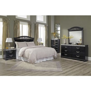 Constellations 3 Pc. Bedroom - Dresser, Mirror & Queen/Full Panel Headboard