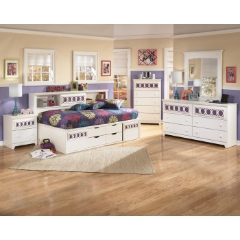 Zayley Twin Bed, Dresser & Mirror