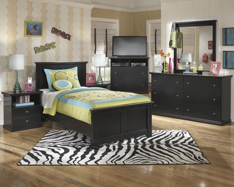 Maribel Twin Bed, Dresser & Mirror