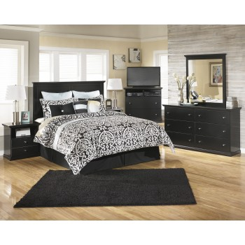 Maribel 3 Pc. Bedroom - Dresser, Mirror & Queen/Full Panel Headboard