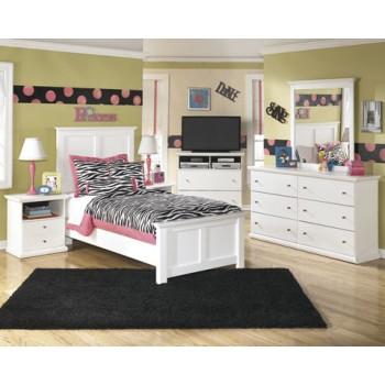 Bostwick Shoals Dresser, Mirror & Twin Panel Bed
