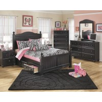 Jaidyn Full Poster Bed with Storage