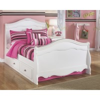 Exquisite Full Sleigh Bed with Storage