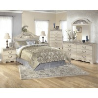 Catalina 4 Pc. Bedroom- Dresser, Mirror, Queen/Full Panel Headboard & Two Drawer Nightstand