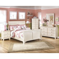 Cottage Retreat Full Sleigh Bed, Dresser, Mirror & Chest