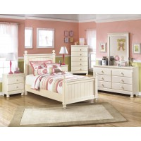 Cottage Retreat Twin Poster Bed, Dresser & Mirror
