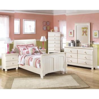 Cottage Retreat Twin Bed, Dresser & Mirror