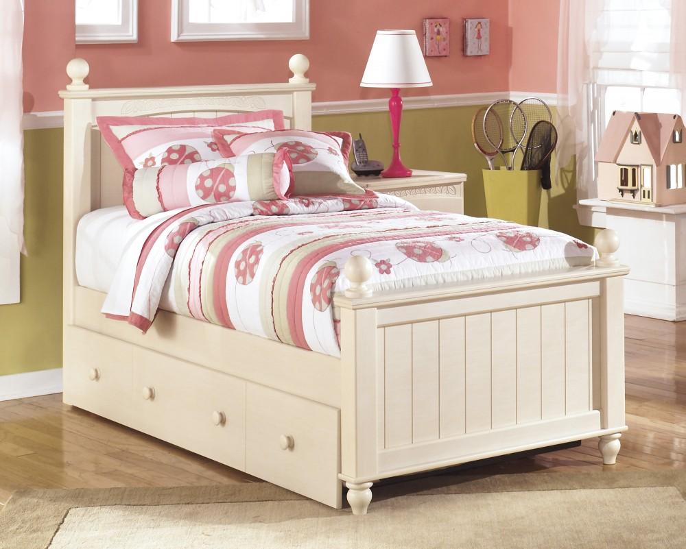 Cottage Retreat Twin Poster Bed with Storage