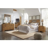 Bittersweet 4 Pc. Bedroom - Dresser, Mirror, Queen/Full Panel Headboard, Nightstand