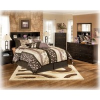 Kendi 5 Pc. Bedroom - Dresser, Mirror, Chest, Queen Box Headboard & Nightstand