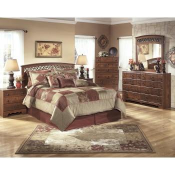 Timberline 4 Pc. Bedroom - Dresser, Mirror, Chest & Queen/Full Panel Headboard