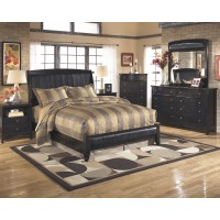 Harmony 6 Pc. Bedroom - Dresser, Mirror, Chest, Queen Platform Bed & Nightstand