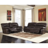 Damacio - Dark Brown - Reclining Sofa & Loveseat