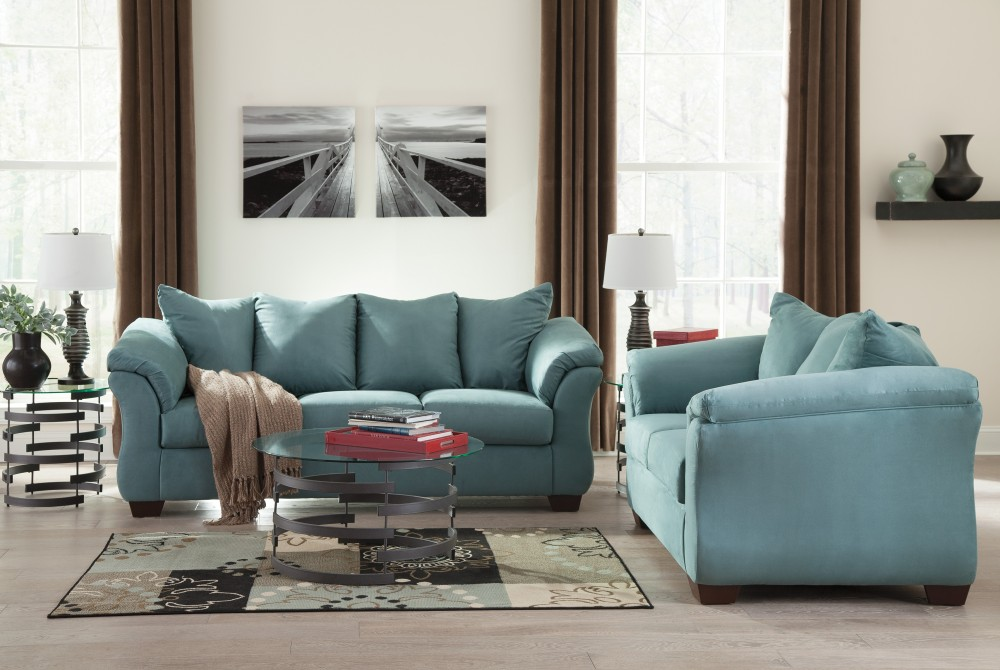 Darcy   Sky   Sofa U0026 Loveseat