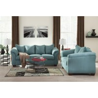 Darcy - Sky - Sofa & Loveseat